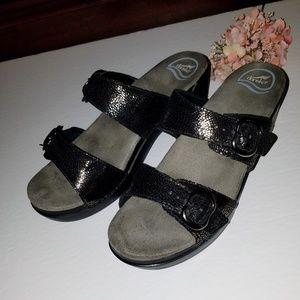 Dansko Shoes - Dansko bronze pebble leather straps 41